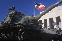 Tank in Veteran's Day Parade Royalty Free Stock Images
