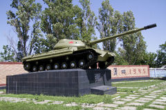 Tank victory monument of Soviet soldiers. Royalty Free Stock Photography