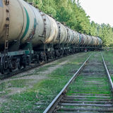 Tank wagons with oil Stock Image