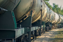 Tank wagons with oil Stock Photos