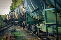 Tank wagons with oil Stock Photo