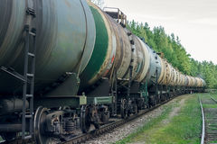 Tank wagons with oil Stock Photography