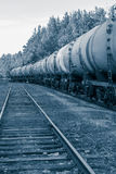 Tank wagons with oil Royalty Free Stock Photography
