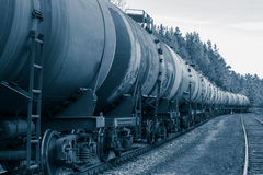 Tank wagons with oil Royalty Free Stock Photos