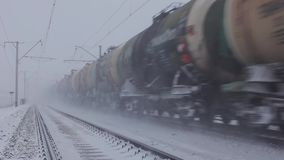 Tank wagons train passing, Trans-Siberian Railway. Tank wagons train passing. Trans-Siberian Railway, Russia. Full HD Resolution 1920×1080 Video Frame Rate 29 stock footage