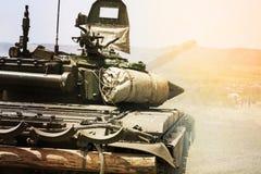 Tank. War battlefield warfare strike hostile fight Stock Image