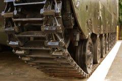 Tank-wheel. Close up image of an old military tank wheel Stock Photos