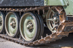 Tank wheel background Stock Image