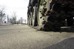 Tank wheels Stock Photos
