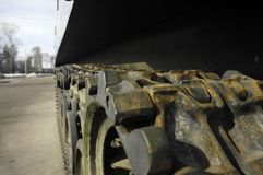 Tank wheels Stock Image