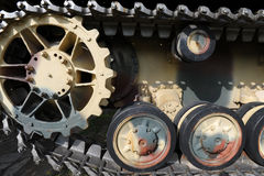 Tank wheels Royalty Free Stock Image
