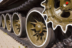 Tank wheels Stock Images