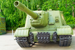 Tank from World War II. Old Soviet, Russian tank from World War II Stock Image