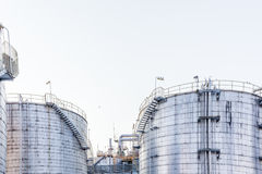Tank yard, Petrochemical industry Royalty Free Stock Image