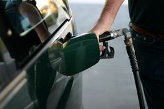tanka för petrol Royaltyfri Fotografi
