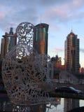 Tankar över framsteg, Shanghai, Kina Arkivbild