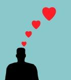 Tankar av förälskelse arkivfoton