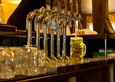 Tankard of draught beer in a pub Royalty Free Stock Photos