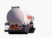 Tankbil isolerad vit Arkivbild