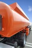 Tanke anaranjado de la gasolina Fotografía de archivo