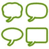 Tankebubblor eller anförandebubbla av fyra Leaf Clov stock illustrationer