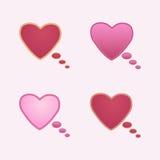 Tankemoln i formen av hjärta Arkivbilder