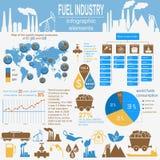 Tanken Sie die infographic Industrie, stellen Sie Elemente für Ihre Selbst herein schaffen ein Lizenzfreies Stockbild