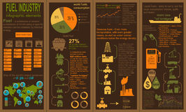 Tanken Sie die infographic Industrie, stellen Sie Elemente für Ihre Selbst herein schaffen ein Lizenzfreie Stockfotografie