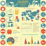 Tanken Sie die infographic Industrie, stellen Sie Elemente für Ihre Selbst herein schaffen ein Stockbilder