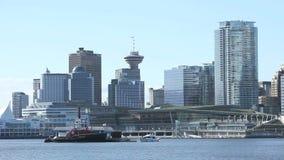 Tanken von Station Vancouver-Hafen stock video