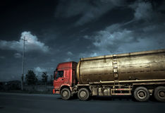 Tanker. On the road, very good material Stock Photos