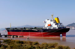 Tanker. Large oil tankers in China Royalty Free Stock Images