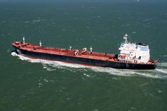 Tanker. A large tanker sailing the seas Stock Photos