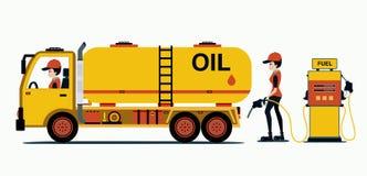 tanker ilustração stock