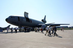 Tanker aircraft McDonnell Douglas KC-10. Royalty Free Stock Photography