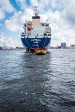 Tanker Astral an der Boje Lizenzfreies Stockbild
