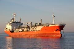 Tanker auf hoher See Lizenzfreie Stockfotos