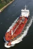 Tanker auf Kiel-Kanal stockfoto