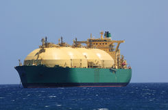 Tanker auf Meer Stockbild