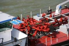 Tanker barge Stock Image
