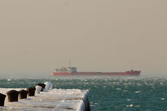 Tanker in the bay of Trieste Stock Images