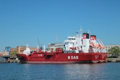 Tanker with biogas Stock Photography
