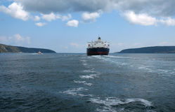 Tanker in Bosphor Stock Images