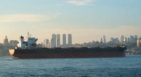 Tanker in Bosphorus Royalty Free Stock Images