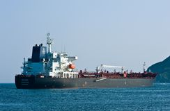 Tanker BW Lynx anchored in the roads. Nakhodka Bay. East (Japan) Sea. 01.08.2014 Royalty Free Stock Photography