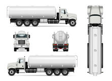 Tanker car template. Tanker truck vector template for car branding and advertising. Isolated tanker car set on white. All layers and groups well organized for Royalty Free Stock Photo