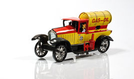 Tanker, Car - Toys. Red and yellow isolated on white background Stock Image
