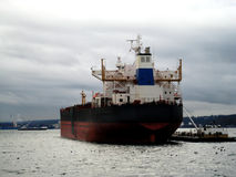 Tanker Cargo Ship v1. Tanker Cargo Ship in the harbor of Puget Sound at Seattle Washingon stock photography