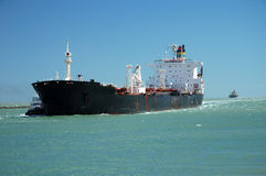 Tanker in the Channel Stock Photo