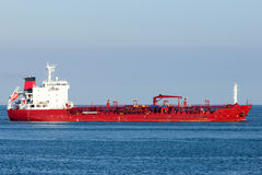 Tanker. Chemical Oil products tanker on sea Stock Photos
